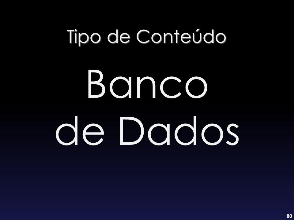 80 Tipo de Conteúdo Banco de Dados