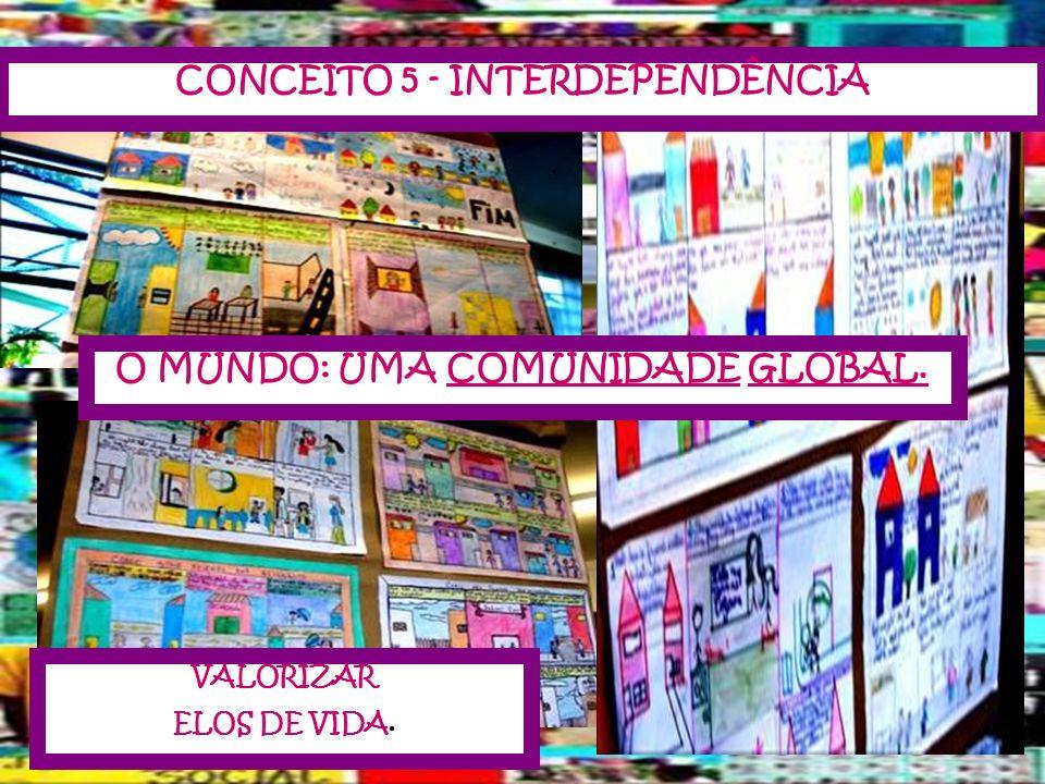 VALORIZAR ELOS DE VIDA. CONCEITO 5 - INTERDEPENDÊNCIA O MUNDO: UMA COMUNIDADE GLOBAL.