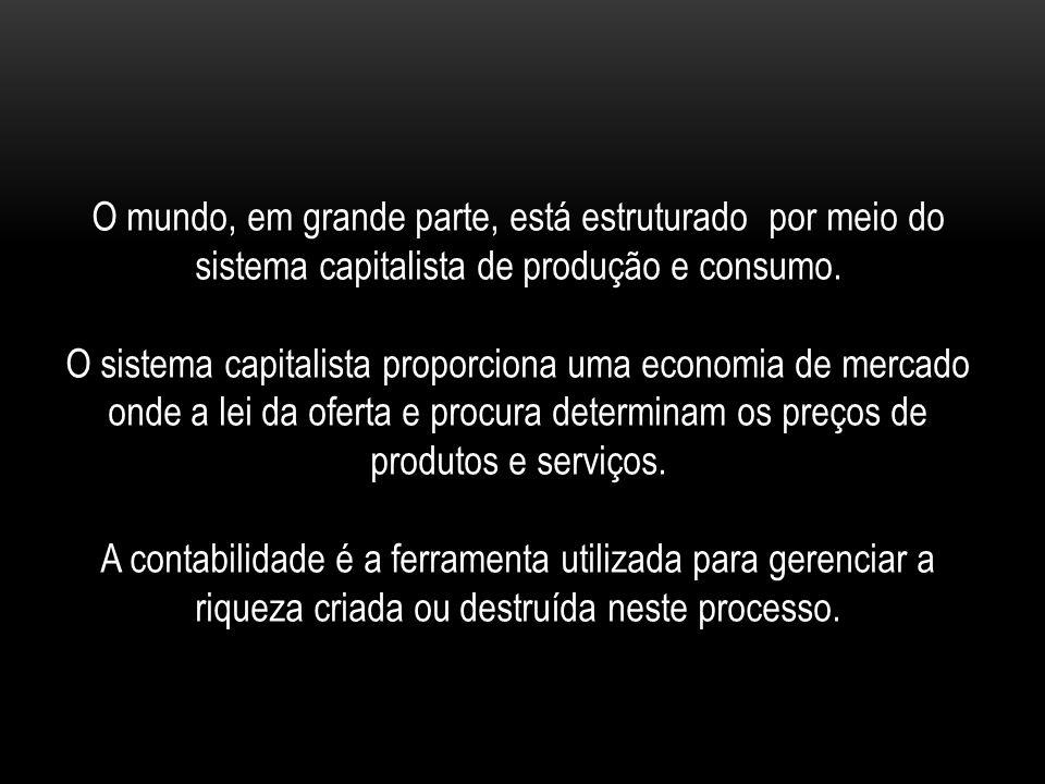 O mundo, em grande parte, está estruturado por meio do sistema capitalista de produção e consumo.
