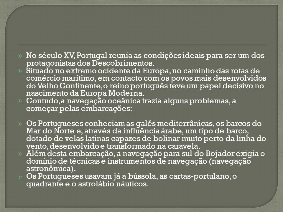 No século XV, Portugal reunia as condições ideais para ser um dos protagonistas dos Descobrimentos.