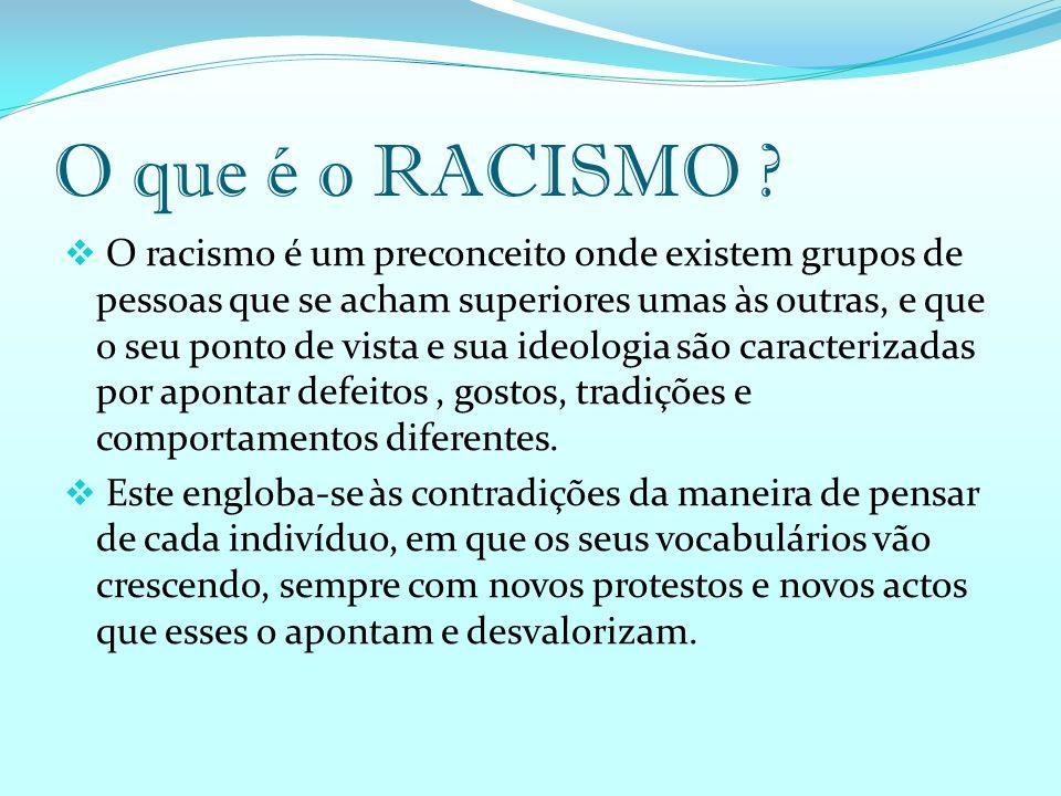 O que é o RACISMO .