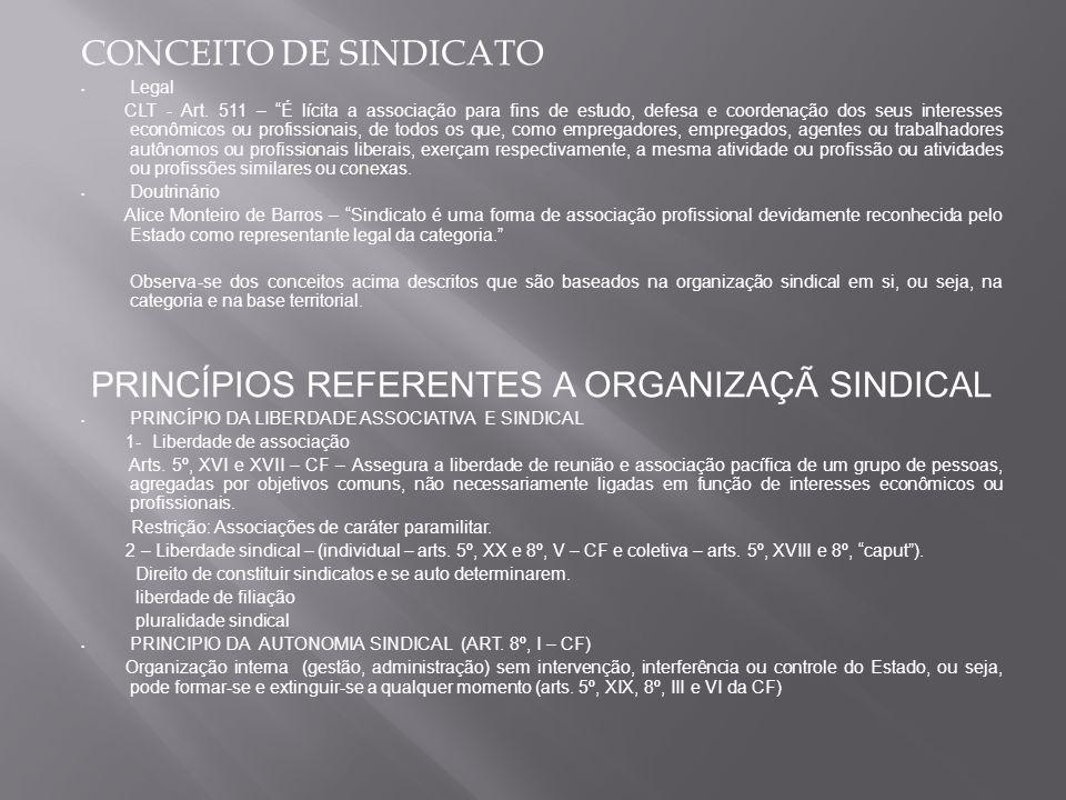CONCEITO DE SINDICATO Legal CLT - Art.