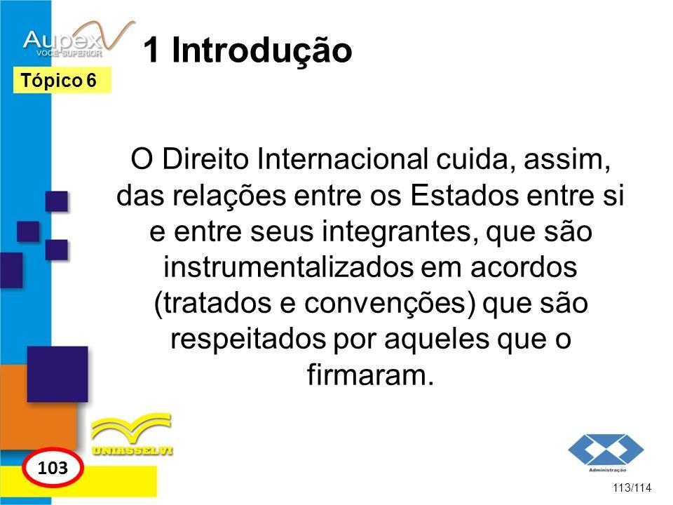 1 Introdução O Direito Internacional cuida, assim, das relações entre os Estados entre si e entre seus integrantes, que são instrumentalizados em acor