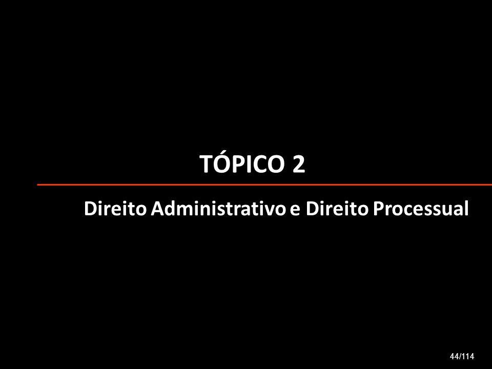 TÓPICO 2 44/114 Direito Administrativo e Direito Processual