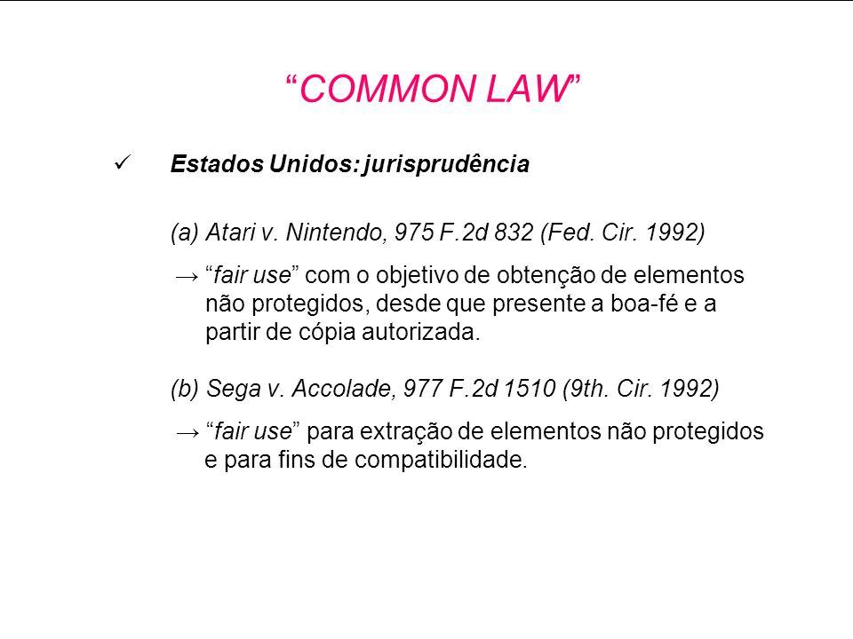 Estados Unidos: jurisprudência (a) Atari v.Nintendo, 975 F.2d 832 (Fed.