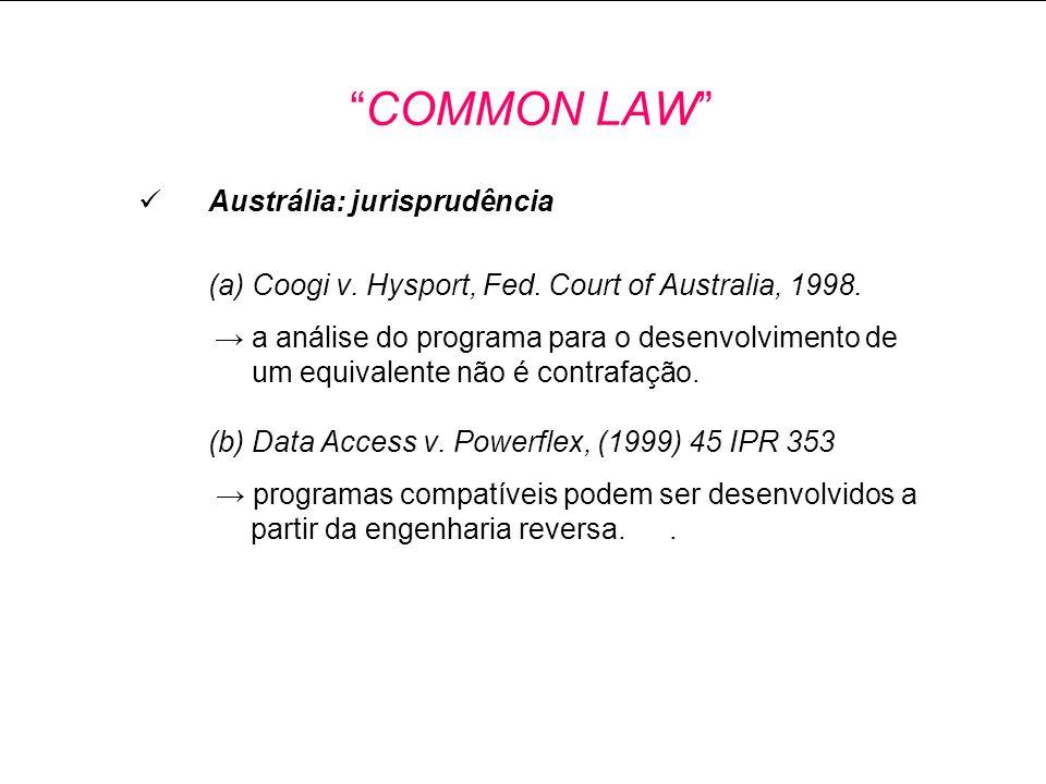 Austrália: jurisprudência (a) Coogi v.Hysport, Fed.