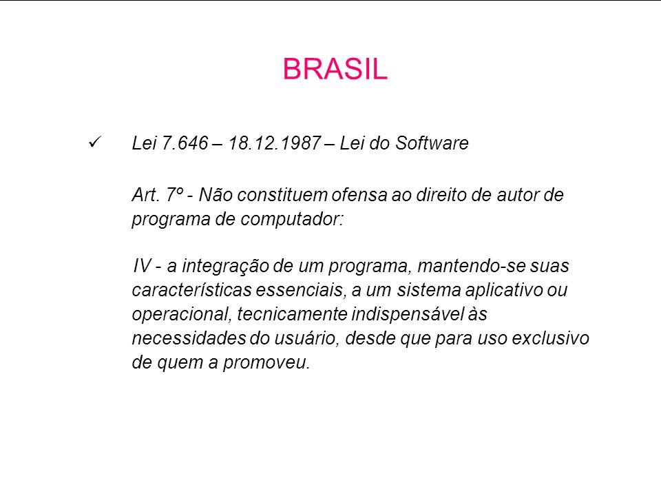 Lei 7.646 – 18.12.1987 – Lei do Software Art.