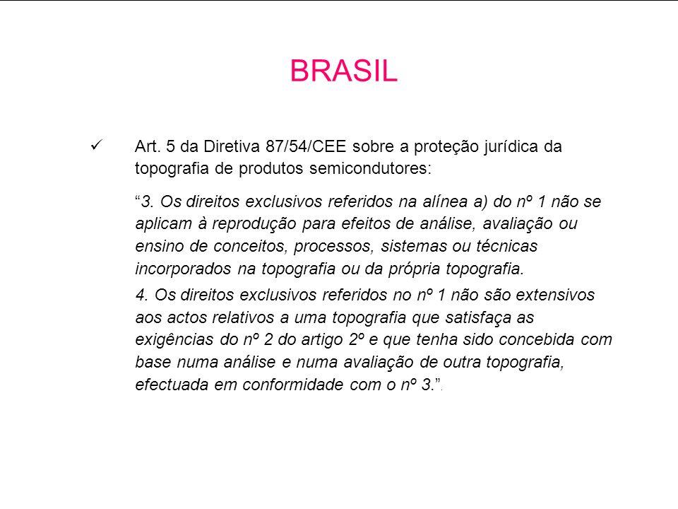 Art.5 da Diretiva 87/54/CEE sobre a proteção jurídica da topografia de produtos semicondutores: 3.