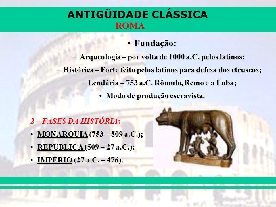 ANTIGÜIDADE CLÁSSICA ROMA AS INVASÕES BÁRBARAS (séc IV e V)