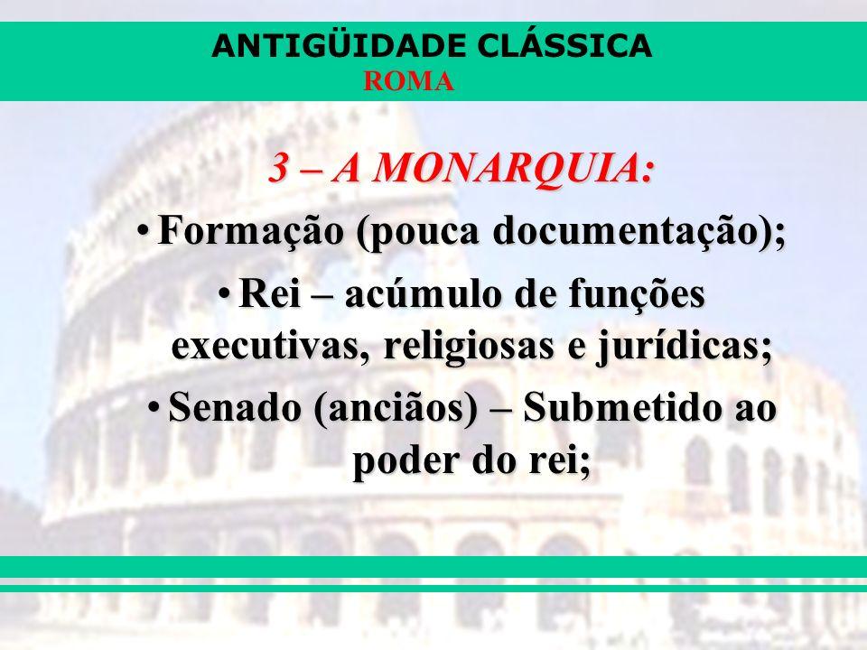 ANTIGÜIDADE CLÁSSICA ROMA 6 – A CULTURA ROMANA DIREITO – maior contribuição;DIREITO – maior contribuição; LITERATURA – Cícero, Virgílio, Ovídeo, Tito Lívio;LITERATURA – Cícero, Virgílio, Ovídeo, Tito Lívio; ARQUITETURA – grandiosidade (aquedutos, estradas...) e funcionalidade;ARQUITETURA – grandiosidade (aquedutos, estradas...) e funcionalidade; RELIGIÃO – politeísta adaptada dos gregos.RELIGIÃO – politeísta adaptada dos gregos.