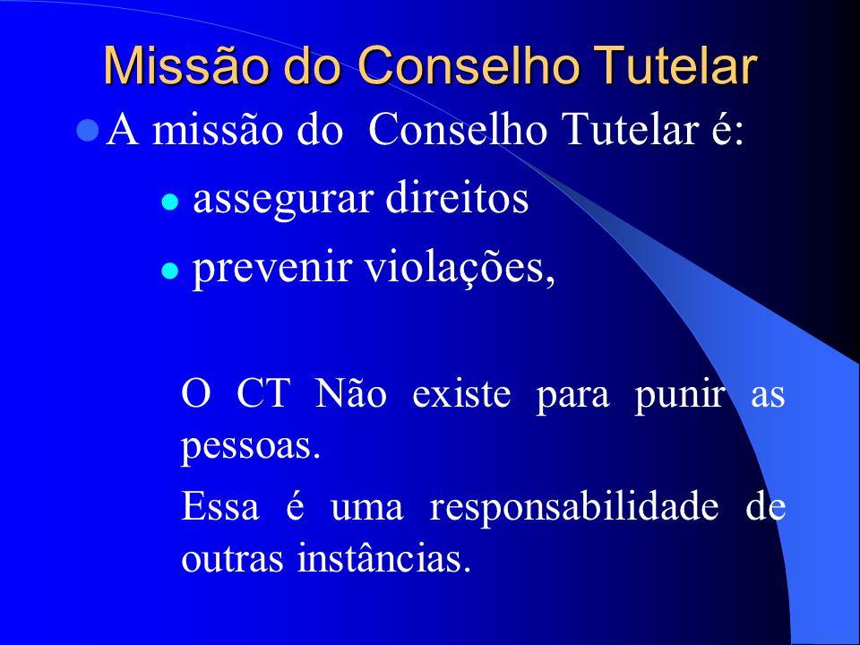 Concepção Estatutária O Conselheiro Tutelar deve pautar sua atuação dentro da concepção estatutária e mediante o reconhecimento de crianças e adolesce