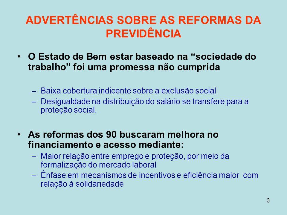 14 RECOMENDAÇÕES = América Latina: impacto na pobreza pela introdução de pensão focalizada e universal