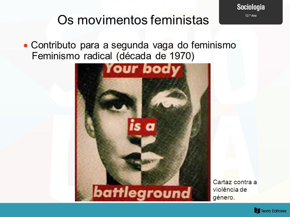 Os movimentos feministas Cartaz contra a violência de género. Contributo para a segunda vaga do feminismo Feminismo radical (década de 1970)