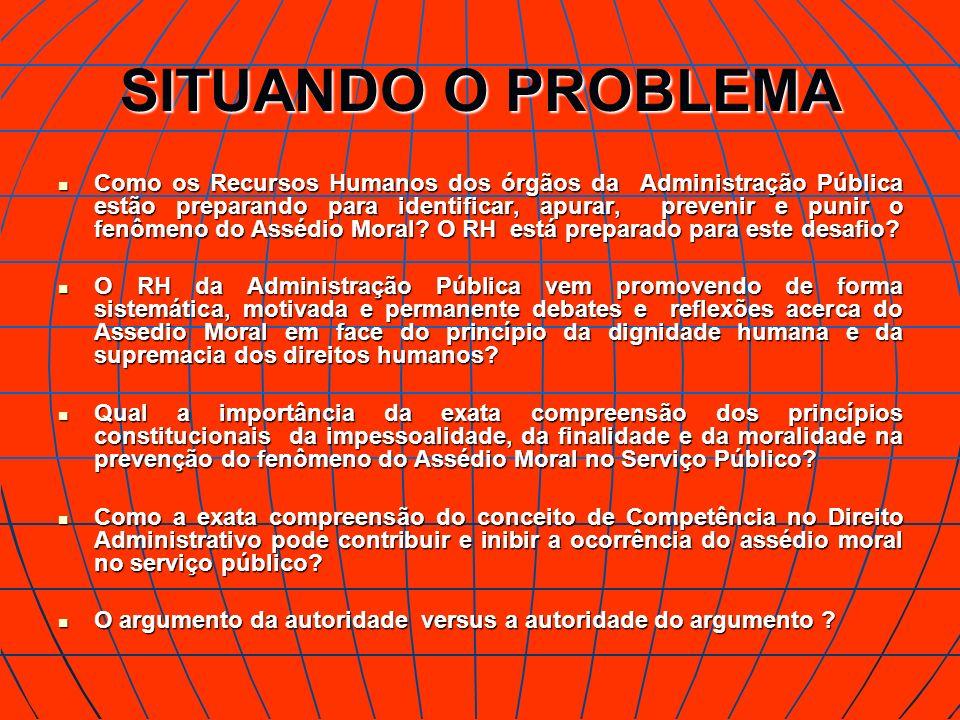 SITUANDO O PROBLEMA Como os Recursos Humanos dos órgãos da Administração Pública estão preparando para identificar, apurar, prevenir e punir o fenômen