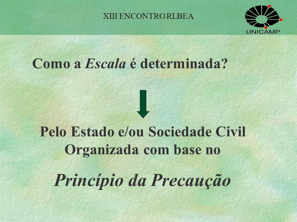 Para a Economia Ecológica, portanto, é a ESCALA o parâmetro físico que deve determinar a posição à qual deverão se ajustar as preferências e a tecnolo