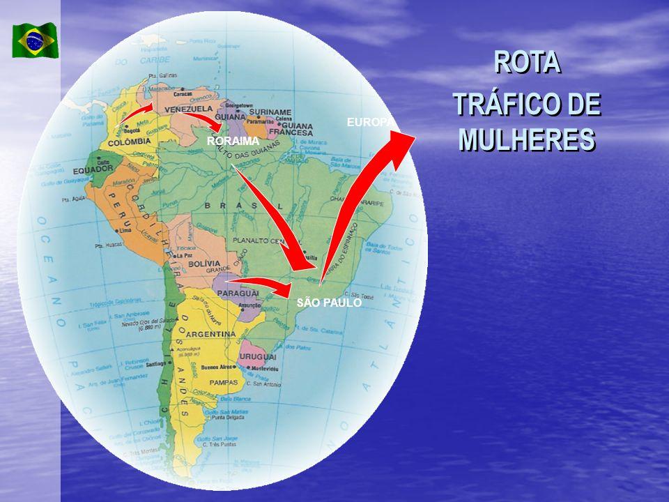 RORAIMA SÃO PAULO EUROPA ROTA TRÁFICO DE MULHERES ROTA TRÁFICO DE MULHERES