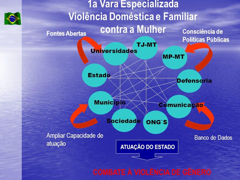 1a Vara Especializada Violência Doméstica e Familiar contra a Mulher Estado Município ONG`S Fontes Abertas Consciência de Políticas Públicas Ampliar C