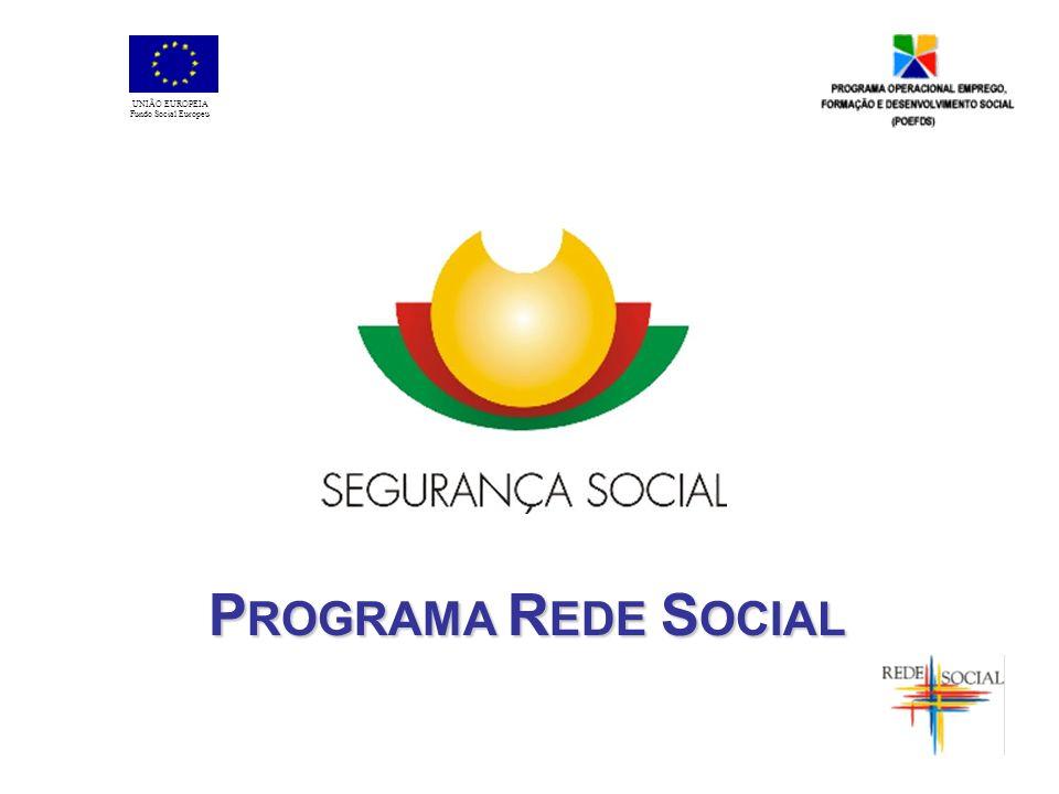 P ROGRAMA R EDE S OCIAL UNIÃO EUROPEIA Fundo Social Europeu