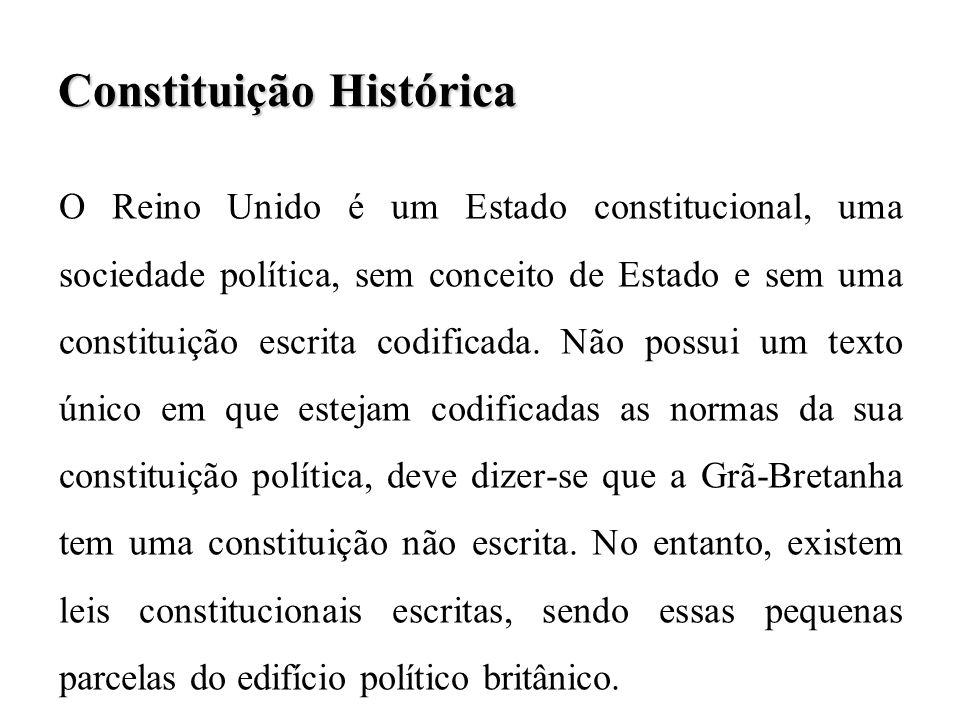 O processo constitucional inglês obedece a um modelo gradualista, no qual se destinguem três grandes fases: 1ª.