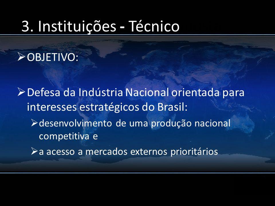 5. A CGDI e sua proposta OBJETIVO: Defesa da Indústria Nacional orientada para interesses estratégicos do Brasil: desenvolvimento de uma produção naci