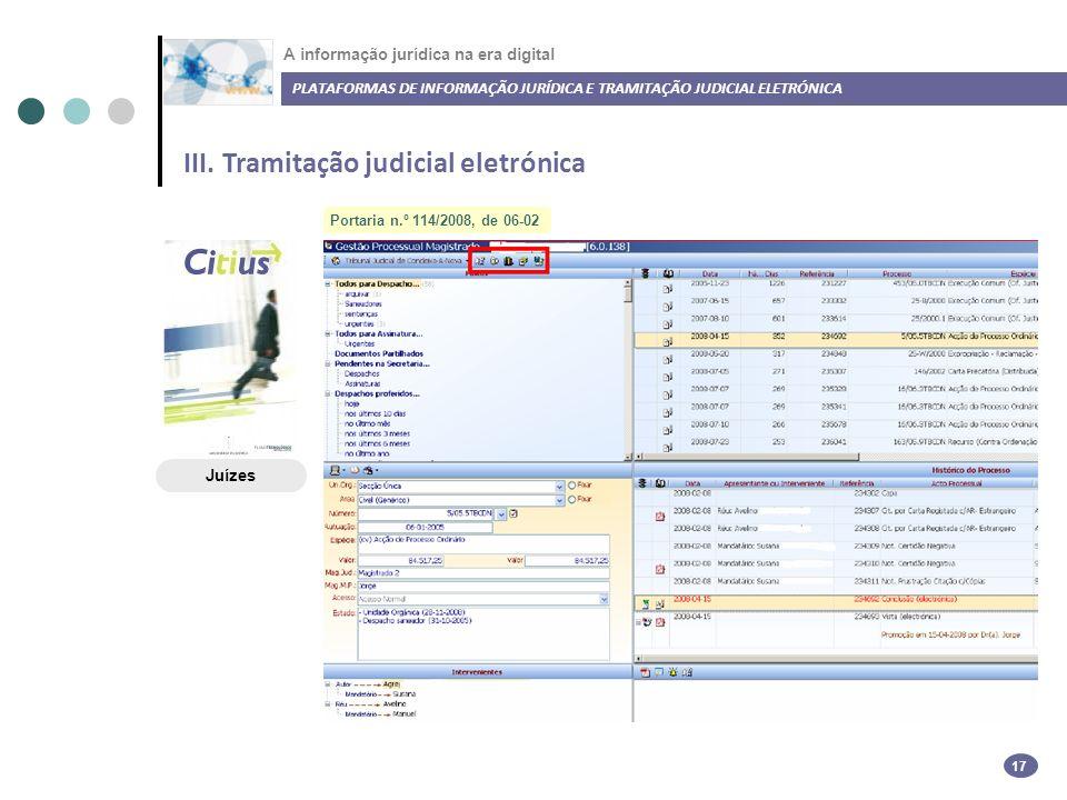 A informação jurídica na era digital III.