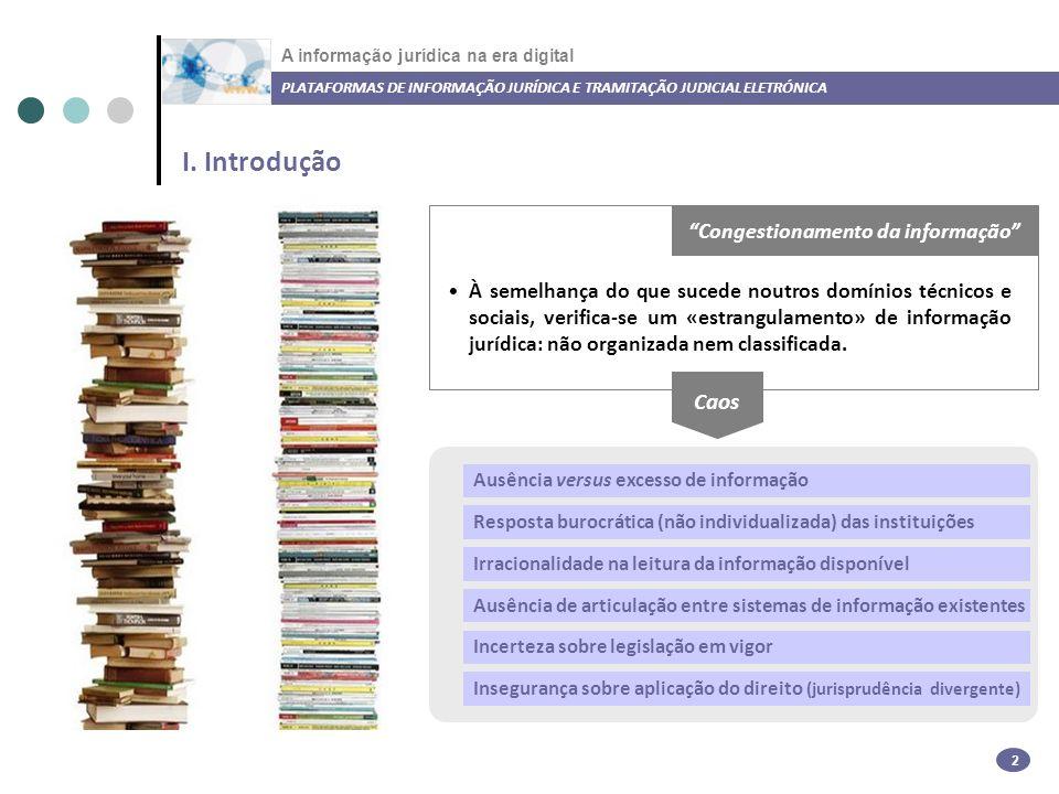 A informação jurídica na era digital I.