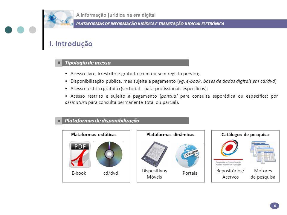 A informação jurídica na era digital II.