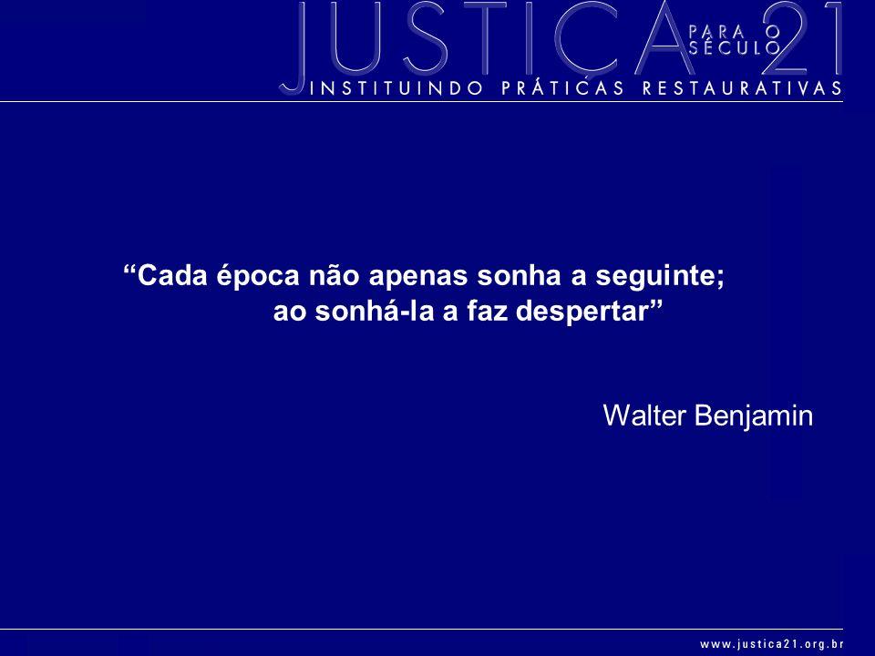 Cada época não apenas sonha a seguinte; ao sonhá-la a faz despertar Walter Benjamin