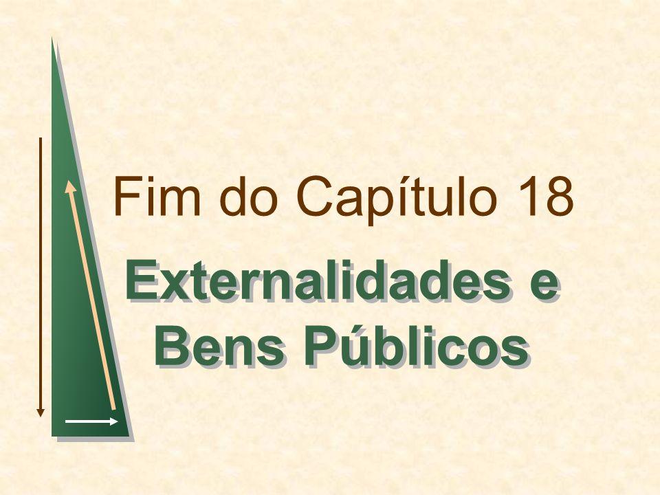Fim do Capítulo 18 Externalidades e Bens Públicos