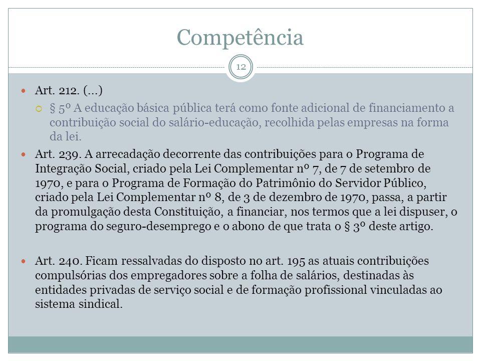 12 Art. 212. (...) § 5º A educação básica pública terá como fonte adicional de financiamento a contribuição social do salário-educação, recolhida pela