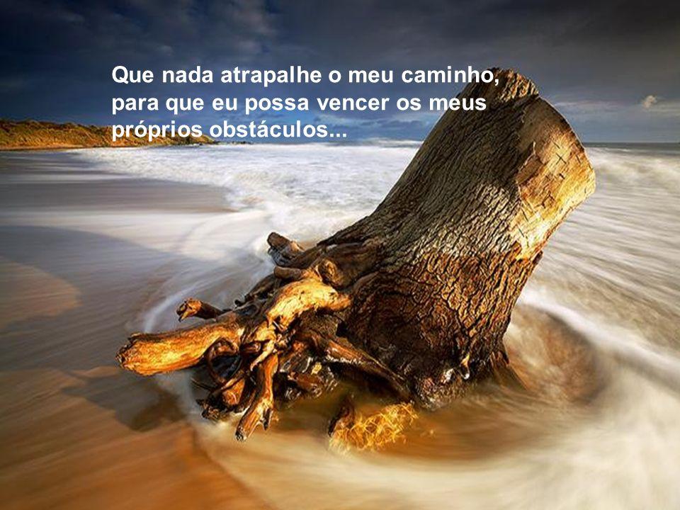 Que nada atrapalhe o meu caminho, para que eu possa vencer os meus próprios obstáculos...