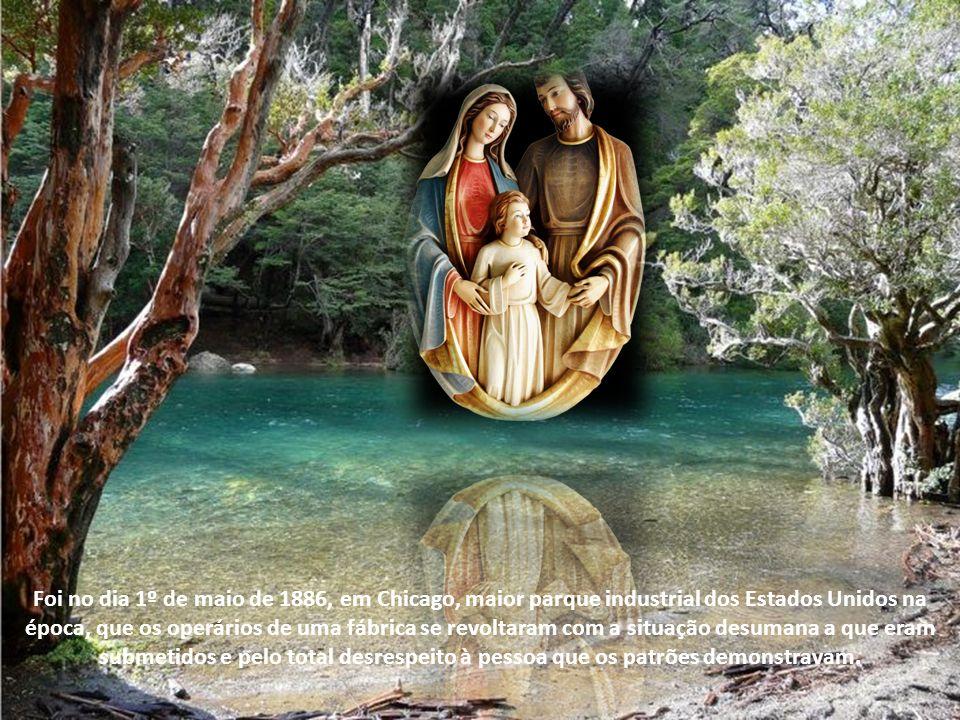 Basta traçar um paralelo entre a vida cheia de sacrifícios de São José, que trabalhou a vida toda para ver Nosso Senhor Jesus Cristo dar a vida pela h