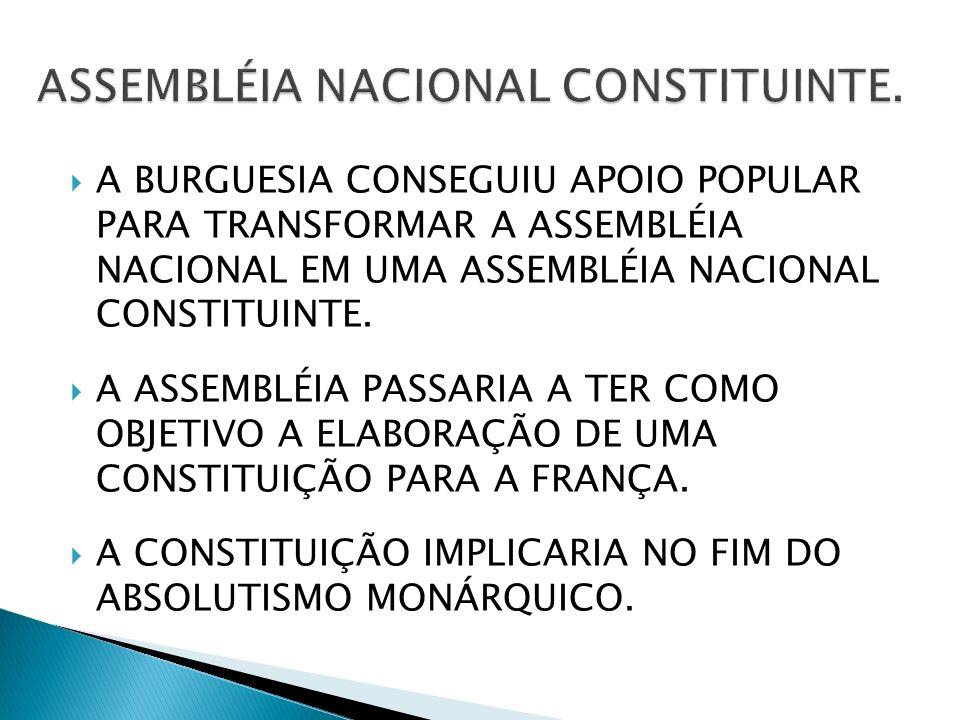 A BURGUESIA CONSEGUIU APOIO POPULAR PARA TRANSFORMAR A ASSEMBLÉIA NACIONAL EM UMA ASSEMBLÉIA NACIONAL CONSTITUINTE.