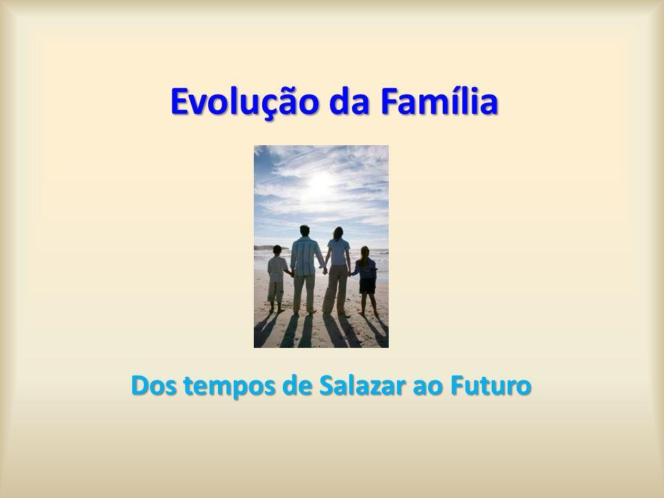 Evolução da Família Dos tempos de Salazar ao Futuro