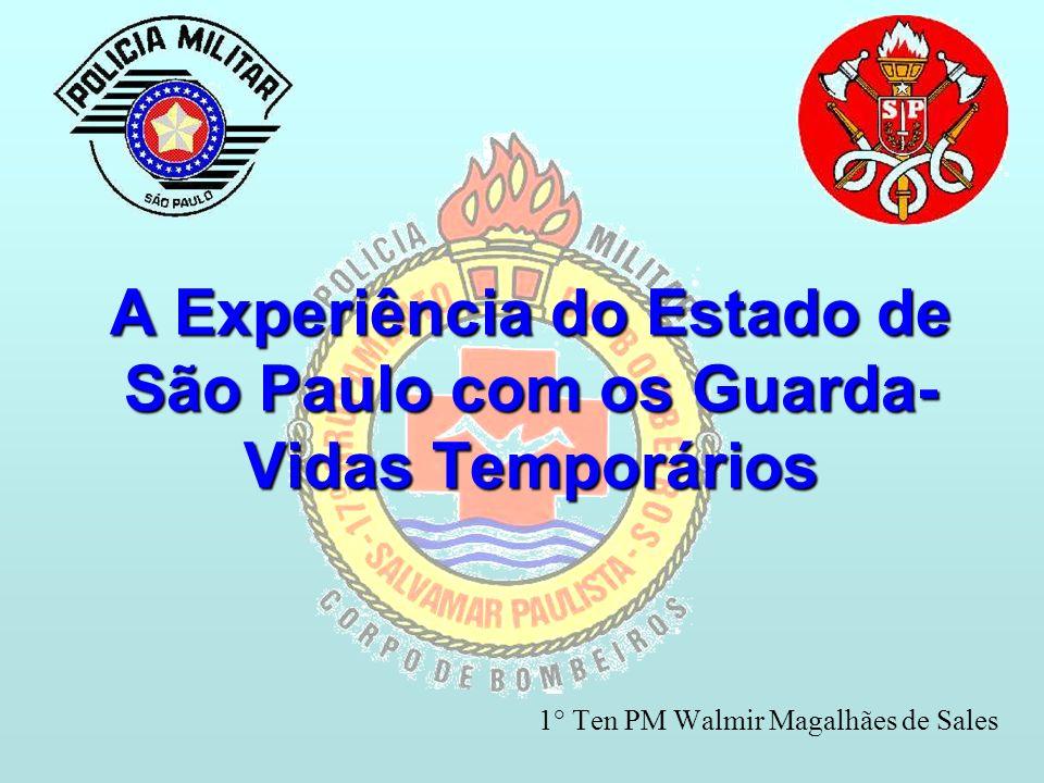 A Experiência do Estado de São Paulo com os Guarda- Vidas Temporários 1° Ten PM Walmir Magalhães de Sales