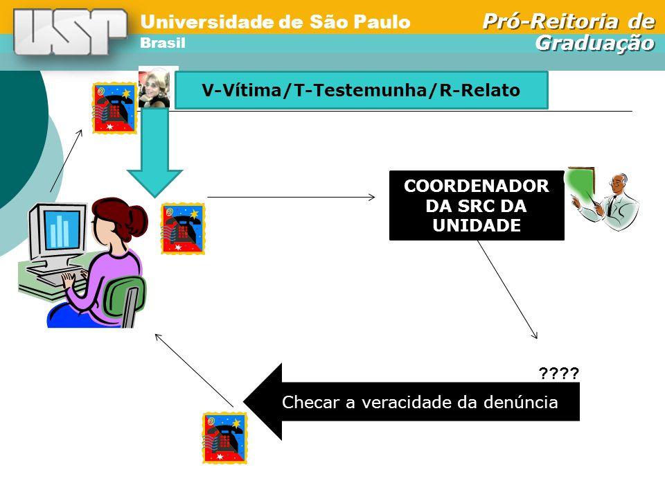 Universidade de São Paulo Brasil Pró-Reitoria de Graduação Universidade de São Paulo Brasil Pró-Reitoria de Graduação COORDENADOR DA SRC DA UNIDADE ???.