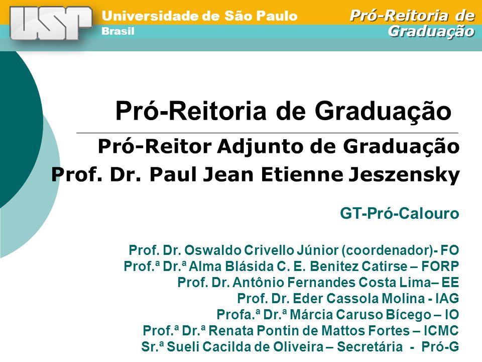 Universidade de São Paulo Brasil Pró-Reitoria de Graduação Universidade de São Paulo Brasil Pró-Reitoria de Graduação Pró-Reitoria de Graduação Pró-Reitor Adjunto de Graduação Prof.
