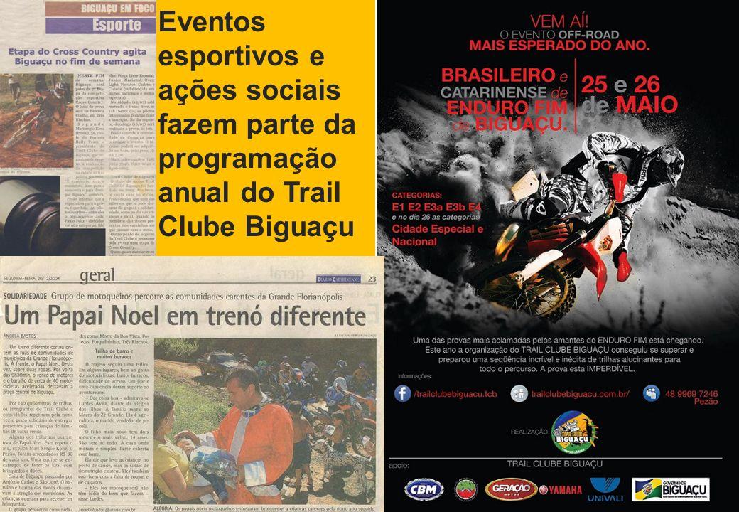 12 Eventos esportivos e ações sociais fazem parte da programação anual do Trail Clube Biguaçu