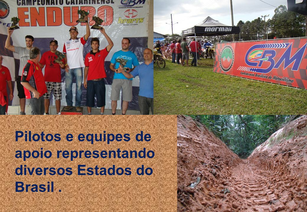 8 Pilotos e equipes de apoio representando diversos Estados do Brasil.
