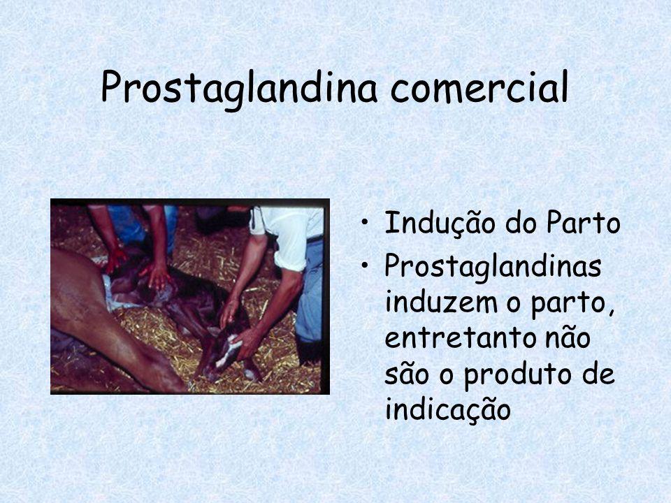 Prostaglandina comercial Indução do Parto Prostaglandinas induzem o parto, entretanto não são o produto de indicação