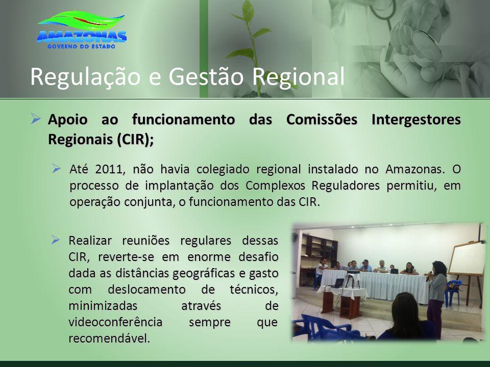 Regulação e Gestão Regional Apoio ao funcionamento das Comissões Intergestores Regionais (CIR); Apoio ao funcionamento das Comissões Intergestores Reg
