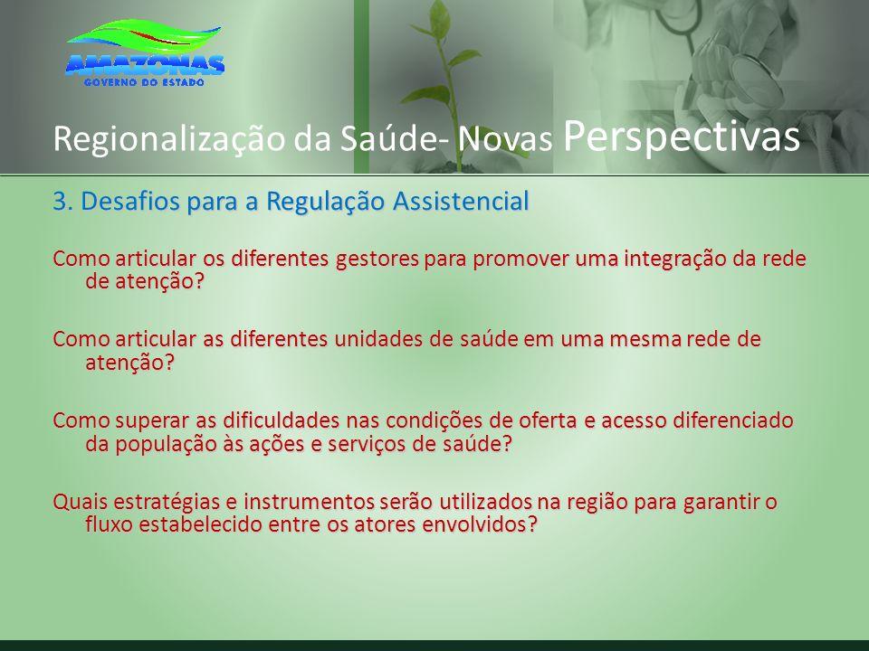 Regionalização da Saúde- Novas Perspectivas 3. Desafios para a Regulação Assistencial Como articular os diferentes gestores para promover uma integraç