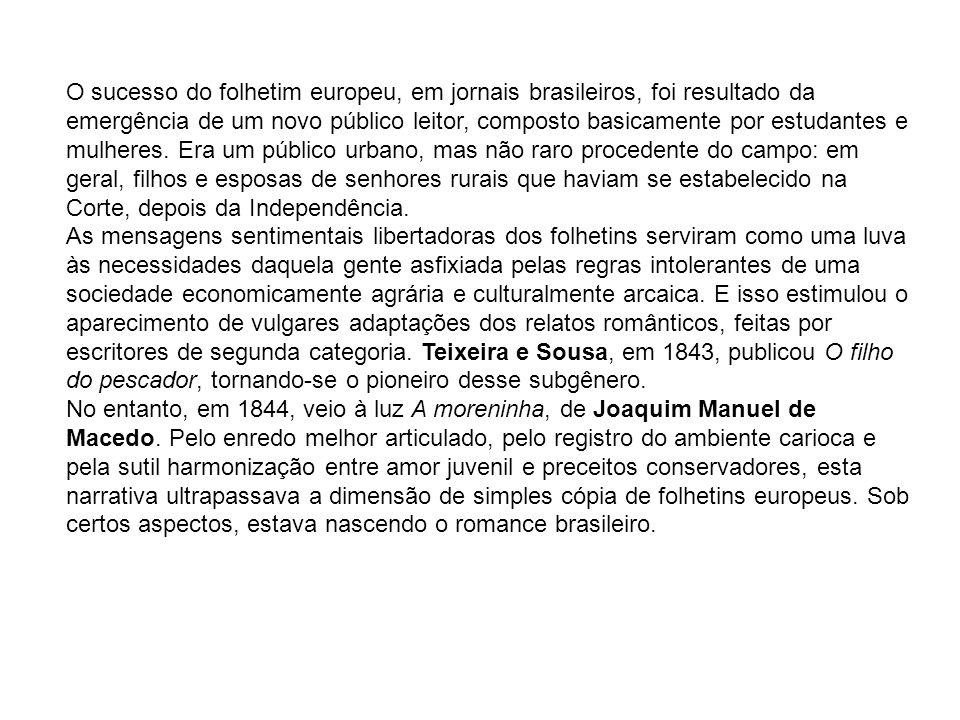 OS ROMANCISTAS ROMÂNTICOS JOAQUIM MANUEL DE MACEDO (1820-1882) Vida: Nasceu em Itaboraí (RJ), filho de uma família de posses.