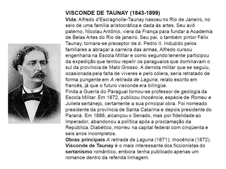 3.FRANKLIN TÁVORA (1842-1888) Vida: Nasceu em Baturité, no interior do Ceará.