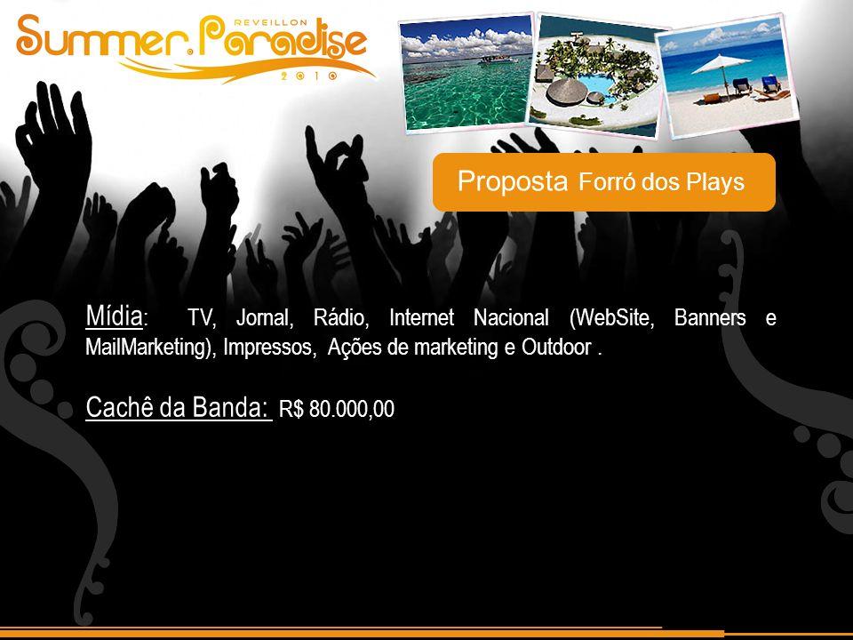Mídia : TV, Jornal, Rádio, Internet Nacional (WebSite, Banners e MailMarketing), Impressos, Ações de marketing e Outdoor.