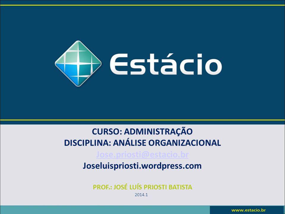 Conteúdo Programático UNIDADE I - Administração Estratégica.