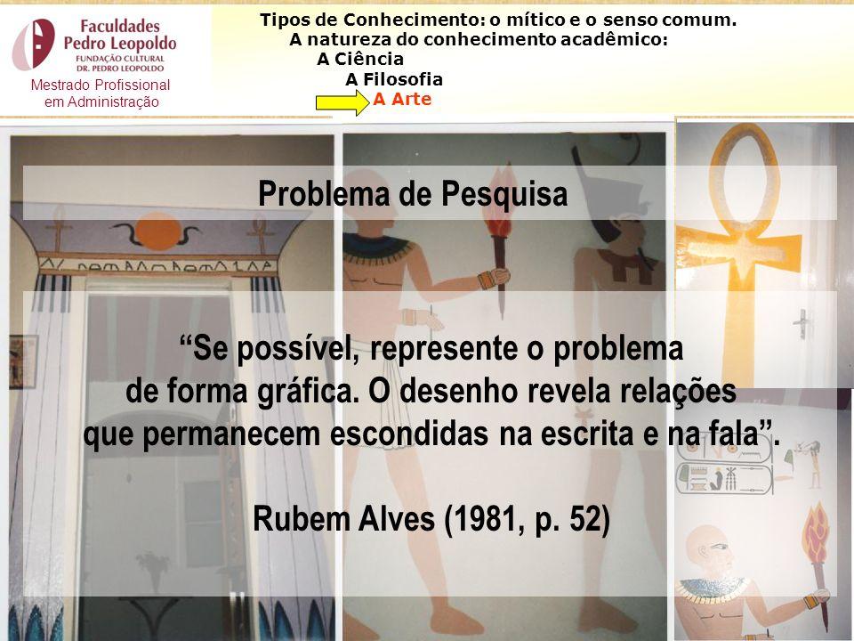 35 Se possível, represente o problema de forma gráfica. O desenho revela relações que permanecem escondidas na escrita e na fala. Rubem Alves (1981, p