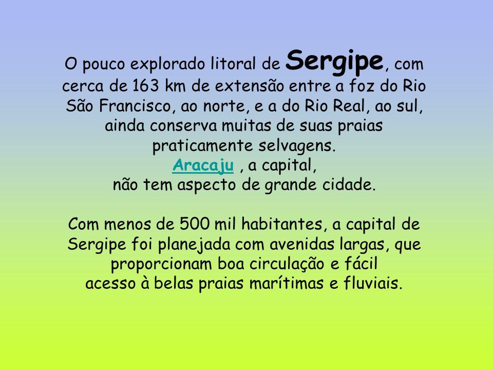 O pouco explorado litoral de Sergipe, com cerca de 163 km de extensão entre a foz do Rio São Francisco, ao norte, e a do Rio Real, ao sul, ainda conse