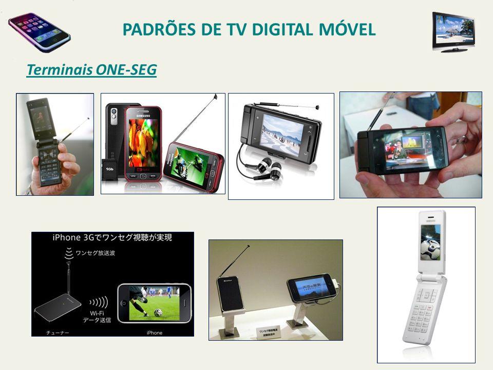 Terminais ONE-SEG PADRÕES DE TV DIGITAL MÓVEL