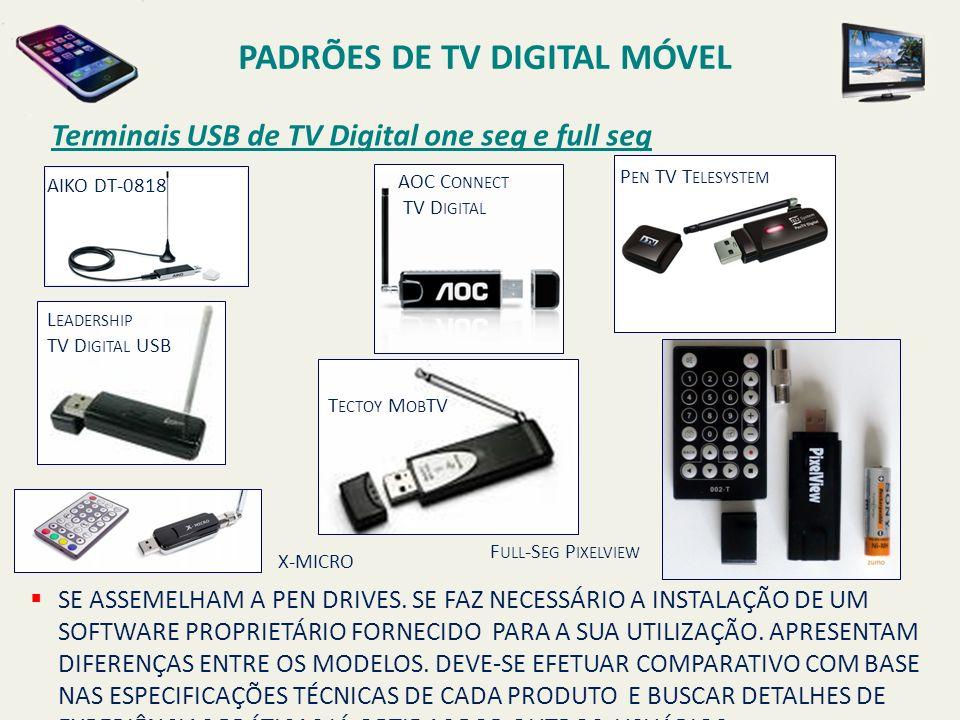 AOC C ONNECT TV D IGITAL AIKO DT-0818 P EN TV T ELESYSTEM L EADERSHIP TV D IGITAL USB T ECTOY M OB TV F ULL -S EG P IXELVIEW X-MICRO SE ASSEMELHAM A PEN DRIVES.